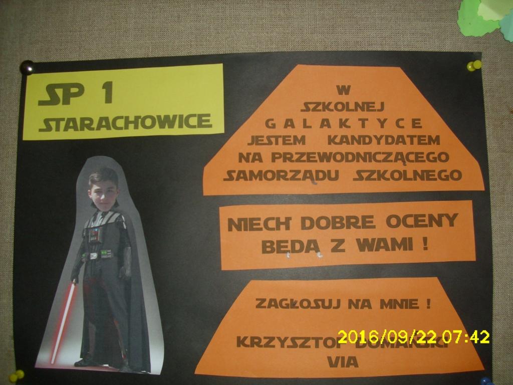 Wybory Samorządu Uczniowskiego Szkoła Podstawowa Nr 1 W